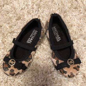 Michael Kors leopard print brand new toddler shoes
